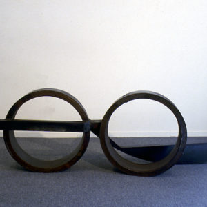 "<strong>Bifocal (1987)</strong><br/> 26 X 71 X 22""<br/> STEEL"