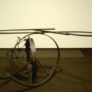 "<strong>Tempest (1983)</strong><br/> 28 X 88 X 60""<br/> PAINTED STEEL"