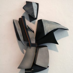 "<strong>Armour, 2010</strong><br/> 32 X 20""<br/> GLAZED EARTHENWARE"