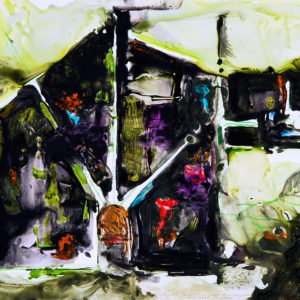 "<strong>Garden Beacons</strong>, 2008<br>22.5 x 30""<br>Mixed Media on Paper"
