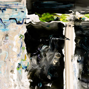 """<strong>Inverted Roofline</strong>, 2009<br>22 x 30 3/8""""<br>Mixed Media on Paper"""