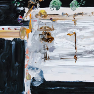 """<strong>Slim Entablature</strong>, 2006<br>22 x 30""""<br>Mixed Media on Paper"""