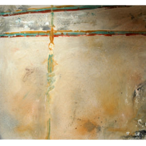 "<strong>Cream Roma Angle</strong>, 2005<br>89.5 x 118.5""<br>Acrylic on Canvas"