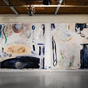 "<strong>Roma Air Pair</strong>, 2010<br>88 x 120"" (each)<br>Acrylic on Canvas"