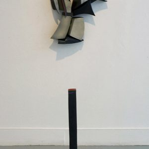 "<strong>Installation View of Armour, 2010</strong><br/> 31 X 3 X 3""<br/> GLAZED EARTHENWARE"
