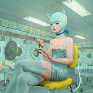 "Kat in Laundromat, 2017 20 x 16"" Edition of 20"