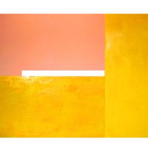 "<strong>Yellowwithfleshspray (2011)</strong><br/> 86 X 130""<br/>ACRYLIC ON CANVAS"
