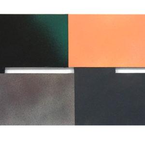 "blackgreysandflesh (2012) 32 X 92"" ACRYLIC ON CANVAS"