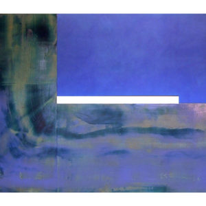 "<strong>blueblueandblue (2011)</strong><br/> 86 X 130""<br/> ACRYLIC ON CANVAS"