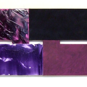 """<strong>fourpurplevariations (2011)</strong><br/> 32 X 77""""<br/> ACRYLIC ON CANVAS"""