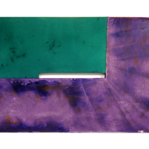 """<strong>purplegreenstained (2010)</strong><br/> 32 X 48""""<br/> ACRYLIC ON CANVAS"""