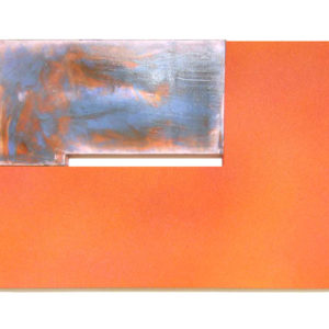"""<strong>tangarineorange (2010)</strong><br/> 32 X 48""""<br/> ACRYLIC ON CANVAS"""