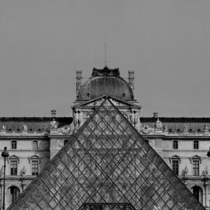 "<strong>Paris Louvre Pyramid</strong>, 2010<br>14.7 x 22""<br>Platnium & Palladium"