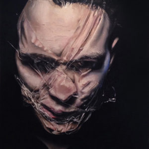 """TAUT I 2014, Oil on canvas, 24"""" x 36"""""""