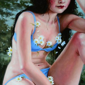 "Wild Honey, 2018 12 x 12"" Oil on canvas"