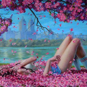 "Spring Break, 2018 24 x 32"" Oil on canvas"