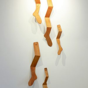 Break a Leg, Dimensions Variable, Wood, Aluminum, Polymerized Linseed Oil, Glue