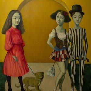 "Encounter, Oil on Canvas, 48x36"""
