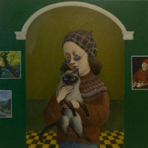 "Full House II, Oil on Canvas, 24x24"""