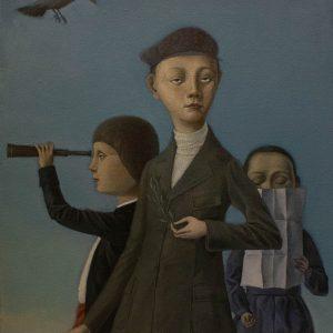 "Three Sons, Oil on Canvas, 24x18"""