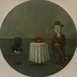 """Waiting (for...), Oil on Canvas, 24x24"""""""
