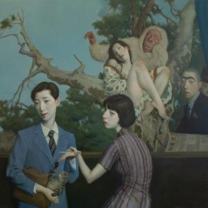 """When You Walk Through The Garden, 36x48"""", Oil on Canvas"""