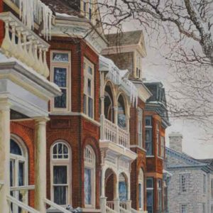 "<strong>Icicles</strong>, 2020<br>24""x 12""<br>Egg Tempera on True Gesso Birch Panel"