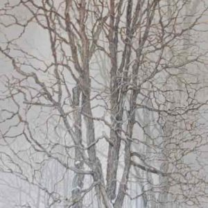 "<strong>Sentinels</strong>, 2020<br>30""x 12""<br>Egg Tempera on True Gesso Birch Panel"