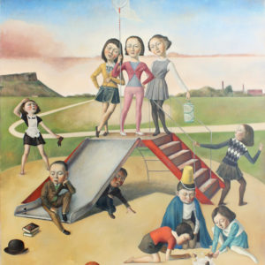 "Playground, 2020, 51"" x 59"", Oil on Canvas"