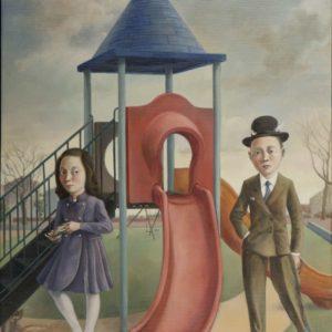 """Boy & Girl, 2021, 25.5"""" x 20"""", Oil on Linen"""