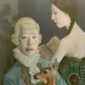 """Deer Ghost II, 2021, 20"""" x 16"""", Oil On Canvas"""