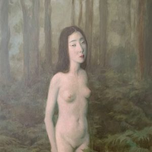 """In The Woods, 2021, 24"""" x 18"""", Oil On Canvas"""