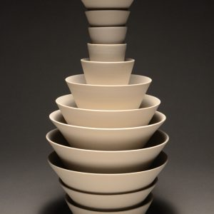 """<strong>Ceremonial Bowls 12, 2014</strong><br/> 14 X 11""""<br/> FIRED PORCELAIN BOWLS"""