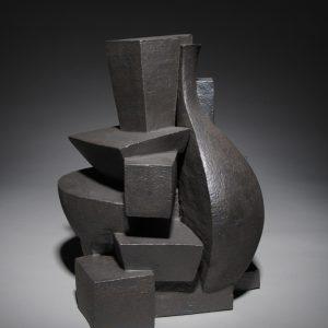 "<strong>Hide & Seek, 2012</strong><br/> 14.5 X 14""<br/> GLAZED EARTHENWARE"
