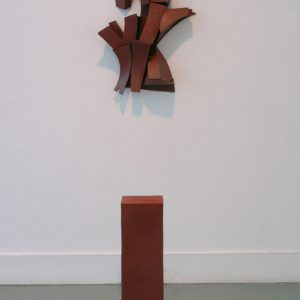 "<strong>Installation View of Bruce Cochrane Teapot, 2010</strong><br/> 31 X 7 X 7""<br/> FIRED EARTHENWARE"