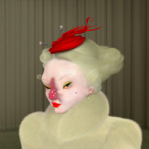 """<strong>Madame Mutt</strong>, 2013<br>8 x 10""""<br>Digital Ultrachrome on Epson Archival Paper on Panel, One of a kind"""