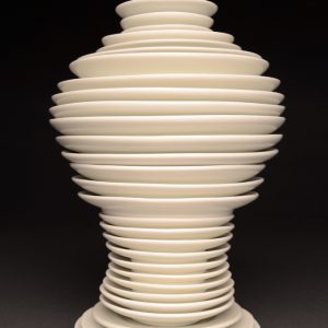 """<strong>Meiping, 2013</strong><br/> 10.5 X 6.5"""" <br/>GLAZED IMPERIAL PORCELAIN PLATES"""