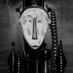"""<strong>African Mask</strong><br>14.7 x 22""""<br>Platnium & Palladium"""