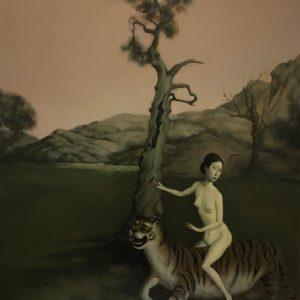"""Durga, 30 x 24"""" Oil on Canvas"""