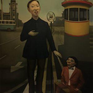 "Singer, 48 x 36"" Oil on Canvas"