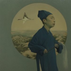 """Young Taoist, 24 x 24"""", Oil on Canvas"""