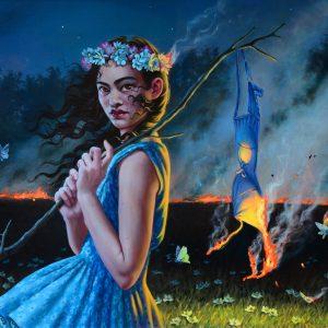 "Blood Moon, 2018 20 x 24"" Oil on canvas"