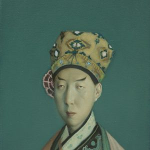 "Swordsman, 14 x 11"", Oil on Canvas"