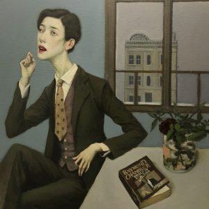 "Actress, 18 x 18"", Oil on Linen Canvas"