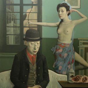 "Arrow Maker, 30 x 24"", Oil on Linen Canvas"