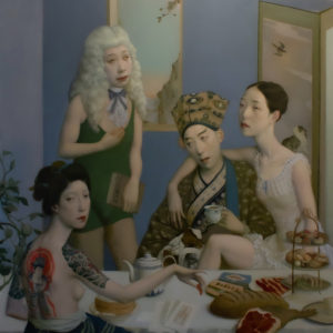 "Afternoon Tea, 60x48"", Oil on Canvas"