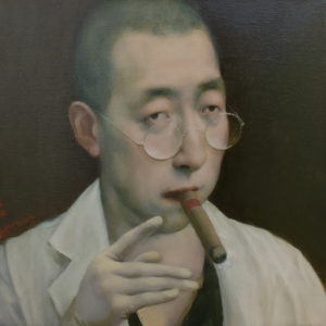 """Doctor, 12x12"""", Oil on canvas"""