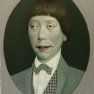 "Portrait of Yuji, 14 x 11"", Oil on Canvas"