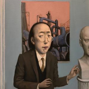 "Professor, 20x16"", Oil on Canvas"