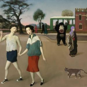 """Run Away, 24x30"""", Oil on Canvas"""